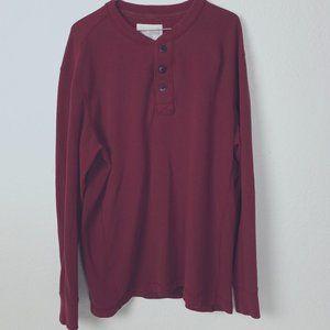 EDDIE BAUER HENLEY THERMAL Shirt Sz XL Men's Brick
